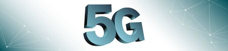 Wide 5g mobile network background Stock Photo