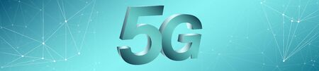 Wireless communication 5g backdrop with copy space