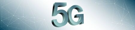 Creative 5g network abstract background Stock Photo