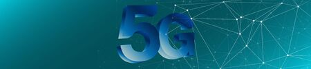 5g technology networks abstract digital wires connection