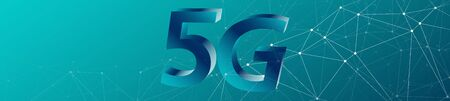 High speed mobile network 5G banner