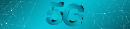 Long 5g mobile network creative symbol