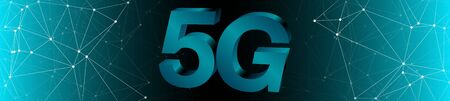New mobile network 5g wide banner wallpaper