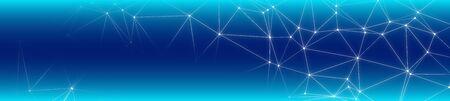 New digital technology polygonal wide banner idea