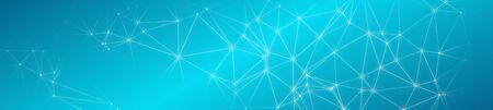 Breite abstrakte digitale Linienverbindungen Standard-Bild