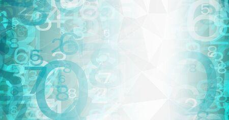 Digital network big data digits 写真素材