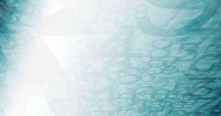 Big data digital numbers flow