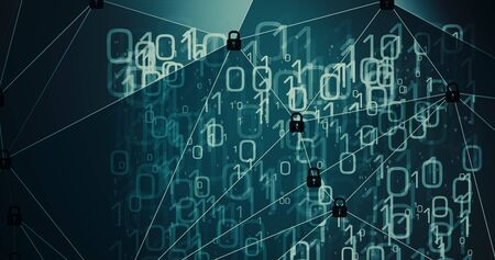 Abstract digital transformation, big data art 写真素材