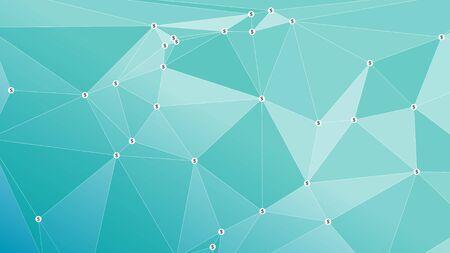 Paiement numérique en dollars vector graphisme géométrique