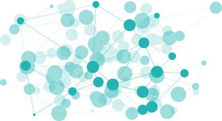Circles illustration layout abstract molecule algorithm, triangular concept network geometric