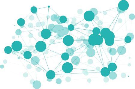 Network green structure concept graphic creative, wires lines triangle Illusztráció