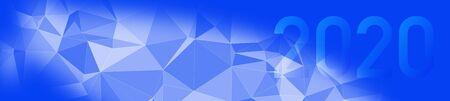 Random 2020 web sign presentation, year concept triangular copy-space