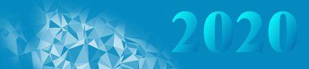 Graphic template illustration 2020 banner backdrop, design geometric web 2020