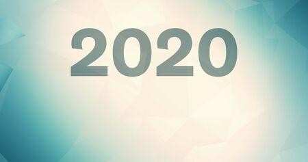 Illustration 2020 wallpaper gradient design backdrop digits, 2020 presentation random year Stok Fotoğraf