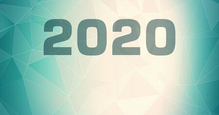 Gradient graphic lines random 2020 symbol, digits chaos invitation