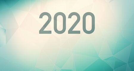 Symbol 2020 random background, gradient pastel
