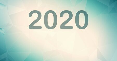 2020 wallpaper green backdrop presentation connected, abstract 2020