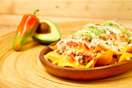 Delicious Mexican Nachos appetizer  photo