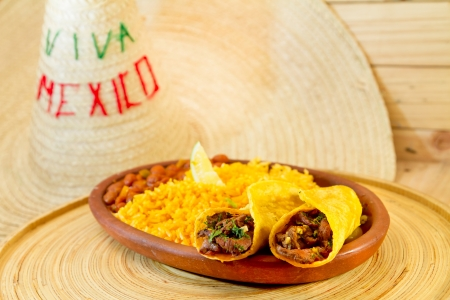 traditional mexican food beef fajitas photo