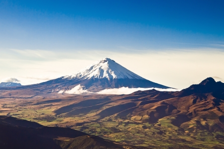 Cotopaxi volcano, Ecuador aerial shot photo