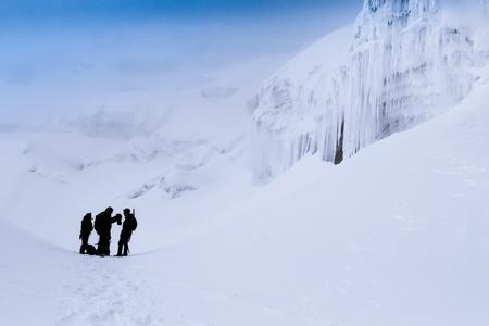 alpine zone: The slopes of Cotopaxi volcano in Ecuador