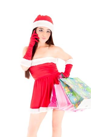 mrs santa: In the digital age Mrs  Santa  Stock Photo