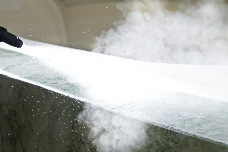 steam jet: steam cleaning machine