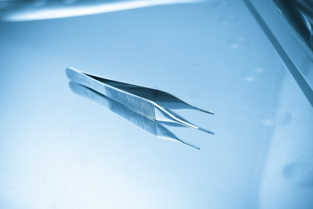 Pair of steel medical tweezers Stock Photo - 16555246