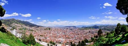 Quito old historic center, ecuador photo