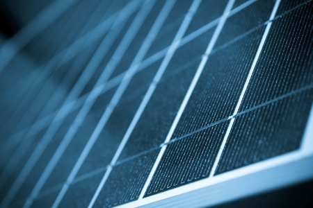 Solar panel close up color processed Stock Photo - 16760902