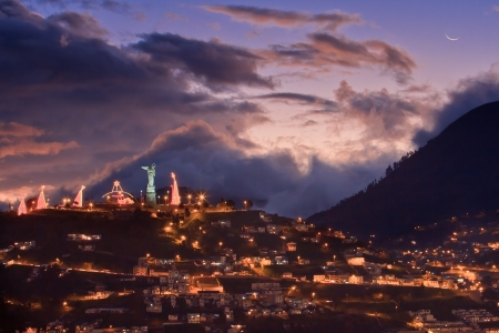 Quito at night, Ecuador  photo