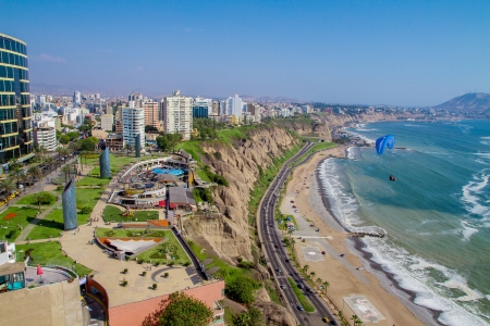 cuzco: View of Miraflores Park, Lima - Peru Stock Photo