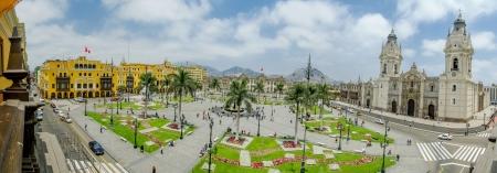 Plaza de Armas a Lima, Perù vista a 180 Archivio Fotografico