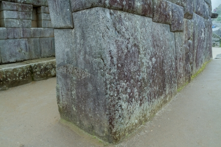 The famous  32 angles stone Machu Picchu, Peru photo