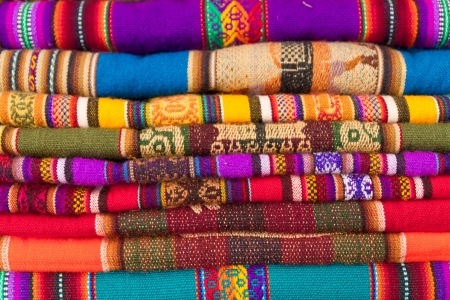 colorful peruvian fabric background