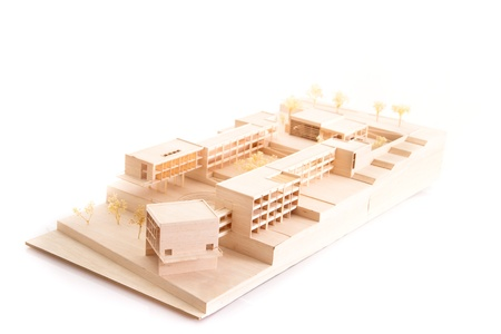 prefabricated: Architecture model house on white beackground Stock Photo