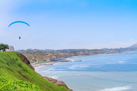 miraflores: View of Miraflores Park, Lima - Peru Stock Photo