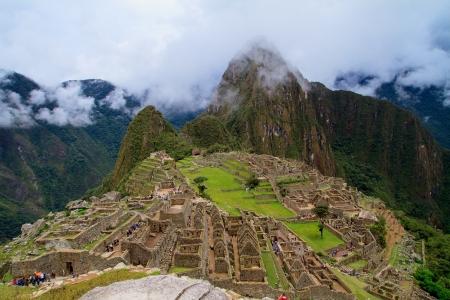 incan: Tourist at Lost City of Machu Picchu - Peru