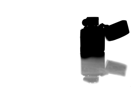 silver zippo lighter isolated on white background Stock Photo - 18392641