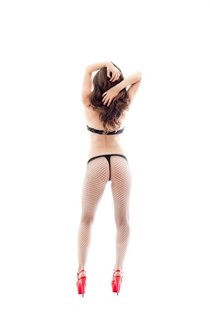 Full lenght portrait of a sexy woman in underwear photo