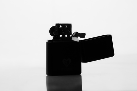 silhouette of a cigarette lighter photo