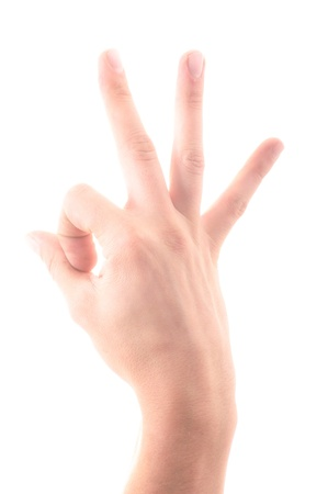 Letter  S  in sign language, on a white background Stock Photo - 18706094