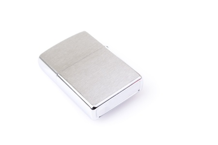 Silver metal lighter isolated on white Stock Photo - 18942520