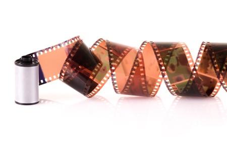 mm: Old 35 mm negative film strip Stock Photo