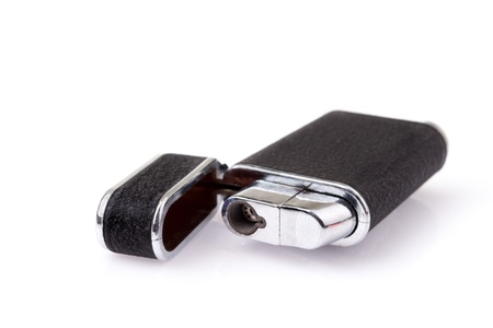 Metal lighter on white background, Black color Stock Photo - 19283829