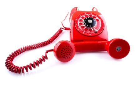 Vintage Red Telephone photo