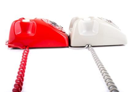 Classic 1970 - 1980 retro dial style telephones photo