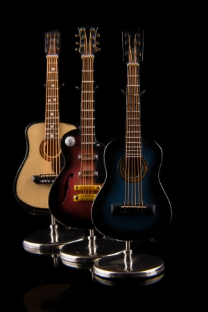 acoustic and electric guitars set Stock Photo - 19570149