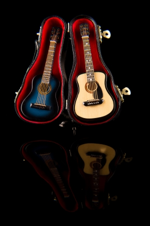 re do: acoustic guitar Stock Photo