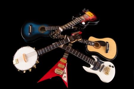 strat: Electric guitars background